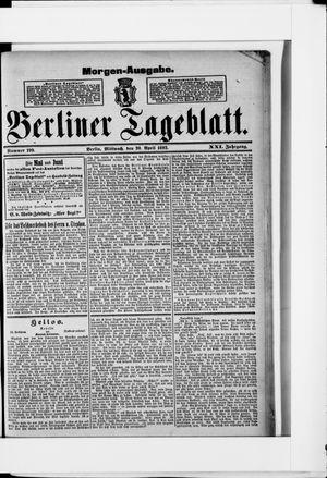 Berliner Tageblatt und Handels-Zeitung vom 20.04.1892