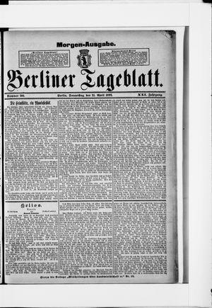 Berliner Tageblatt und Handels-Zeitung vom 21.04.1892