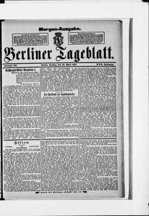 Berliner Tageblatt und Handels-Zeitung vom 22.04.1892
