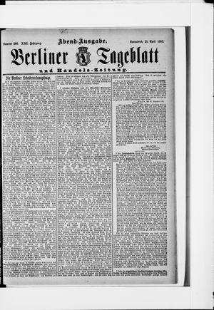 Berliner Tageblatt und Handels-Zeitung on Apr 23, 1892