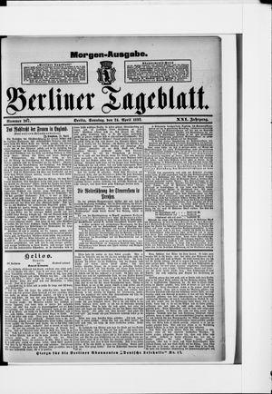 Berliner Tageblatt und Handels-Zeitung vom 24.04.1892