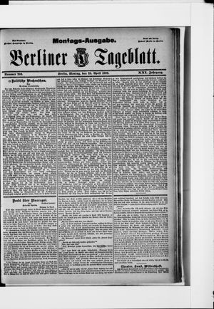 Berliner Tageblatt und Handels-Zeitung vom 25.04.1892