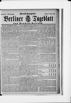 Berliner Tageblatt und Handels-Zeitung vom 26.04.1892