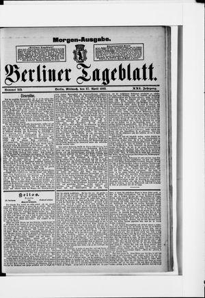 Berliner Tageblatt und Handels-Zeitung on Apr 27, 1892