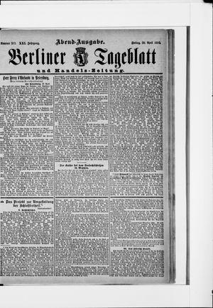 Berliner Tageblatt und Handels-Zeitung vom 29.04.1892