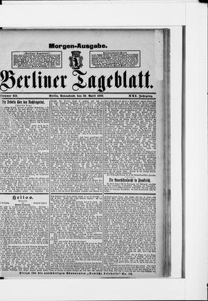 Berliner Tageblatt und Handels-Zeitung vom 30.04.1892