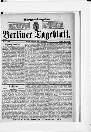Berliner Tageblatt und Handels-Zeitung vom 01.05.1892