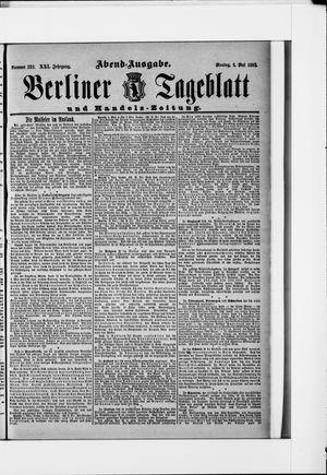 Berliner Tageblatt und Handels-Zeitung vom 02.05.1892