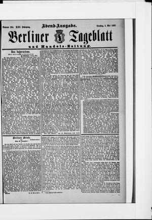 Berliner Tageblatt und Handels-Zeitung vom 03.05.1892