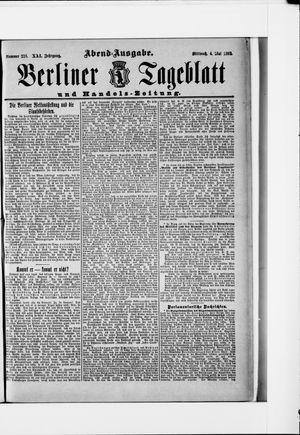 Berliner Tageblatt und Handels-Zeitung vom 04.05.1892