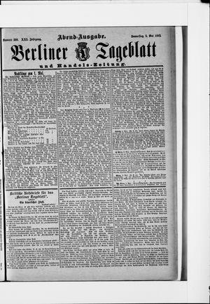 Berliner Tageblatt und Handels-Zeitung vom 05.05.1892