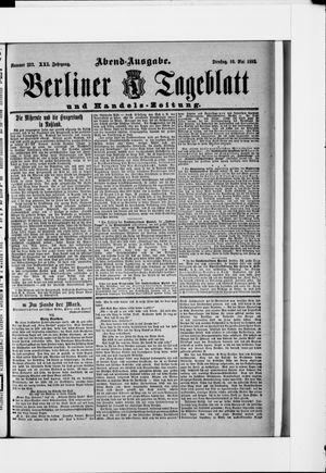 Berliner Tageblatt und Handels-Zeitung on May 10, 1892
