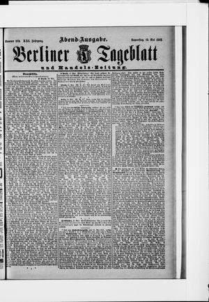 Berliner Tageblatt und Handels-Zeitung vom 11.05.1892