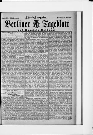 Berliner Tageblatt und Handels-Zeitung vom 14.05.1892