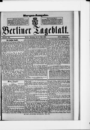 Berliner Tageblatt und Handels-Zeitung vom 15.05.1892
