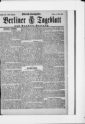 Berliner Tageblatt und Handels-Zeitung vom 16.05.1892