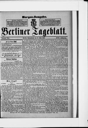 Berliner Tageblatt und Handels-Zeitung vom 21.05.1892