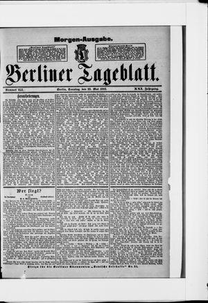 Berliner Tageblatt und Handels-Zeitung vom 22.05.1892