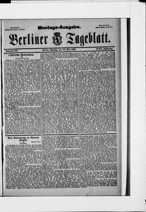 Berliner Tageblatt und Handels-Zeitung vom 23.05.1892
