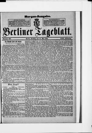 Berliner Tageblatt und Handels-Zeitung vom 24.05.1892