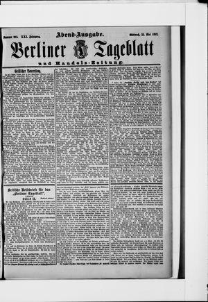 Berliner Tageblatt und Handels-Zeitung vom 25.05.1892
