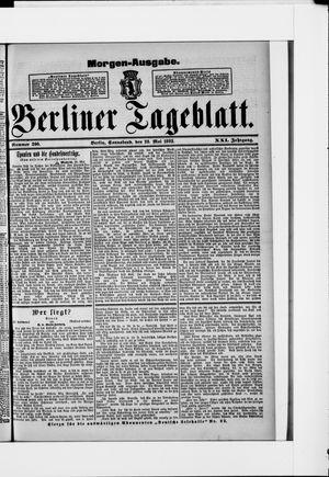 Berliner Tageblatt und Handels-Zeitung vom 28.05.1892