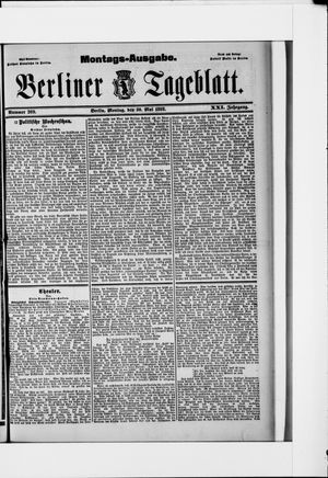 Berliner Tageblatt und Handels-Zeitung vom 30.05.1892