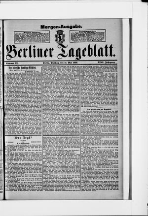 Berliner Tageblatt und Handels-Zeitung on May 31, 1892