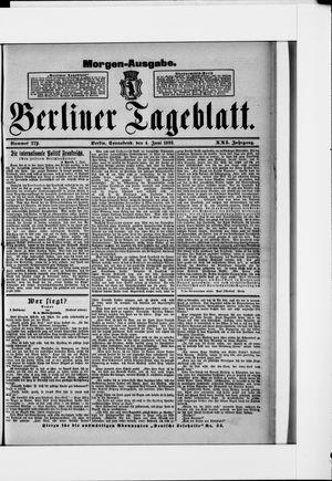 Berliner Tageblatt und Handels-Zeitung vom 04.06.1892