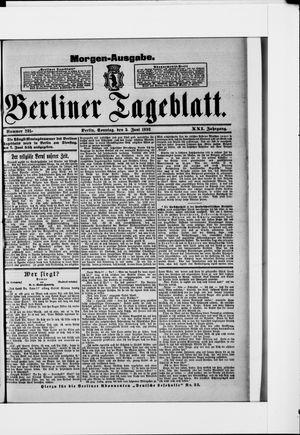 Berliner Tageblatt und Handels-Zeitung vom 05.06.1892