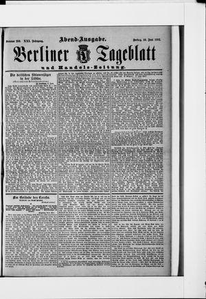 Berliner Tageblatt und Handels-Zeitung vom 10.06.1892
