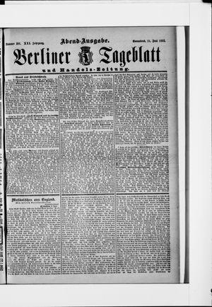 Berliner Tageblatt und Handels-Zeitung vom 11.06.1892