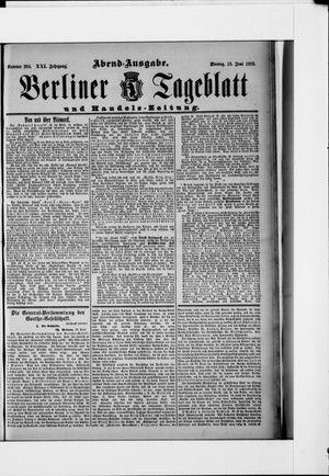 Berliner Tageblatt und Handels-Zeitung vom 13.06.1892