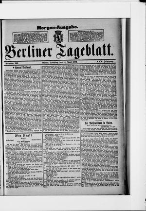 Berliner Tageblatt und Handels-Zeitung vom 14.06.1892
