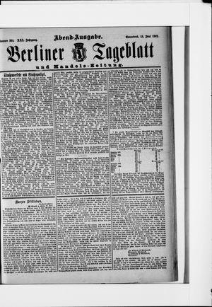 Berliner Tageblatt und Handels-Zeitung vom 18.06.1892