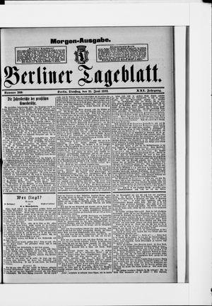 Berliner Tageblatt und Handels-Zeitung vom 21.06.1892