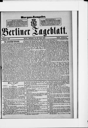 Berliner Tageblatt und Handels-Zeitung vom 22.06.1892