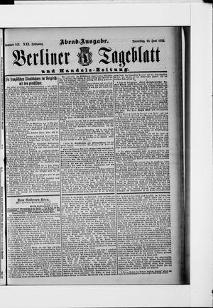 Berliner Tageblatt und Handels-Zeitung vom 23.06.1892