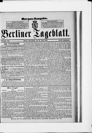 Berliner Tageblatt und Handels-Zeitung vom 25.06.1892