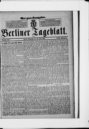 Berliner Tageblatt und Handels-Zeitung vom 29.06.1892