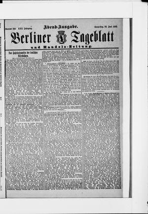 Berliner Tageblatt und Handels-Zeitung vom 30.06.1892