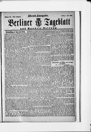 Berliner Tageblatt und Handels-Zeitung vom 01.07.1892