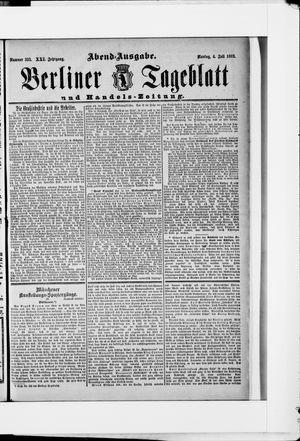 Berliner Tageblatt und Handels-Zeitung on Jul 4, 1892