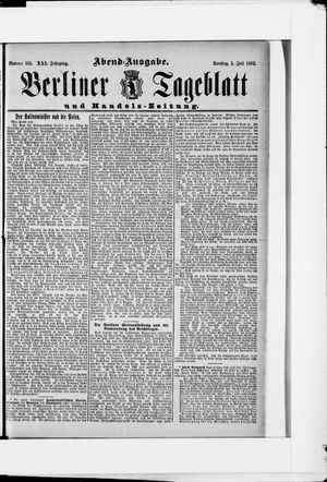 Berliner Tageblatt und Handels-Zeitung vom 05.07.1892