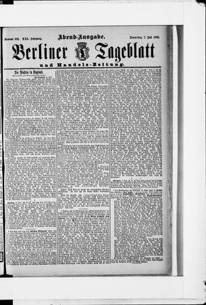 Berliner Tageblatt und Handels-Zeitung vom 07.07.1892