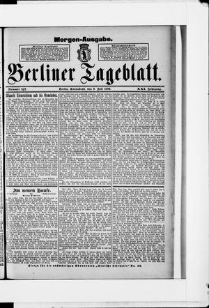 Berliner Tageblatt und Handels-Zeitung vom 09.07.1892