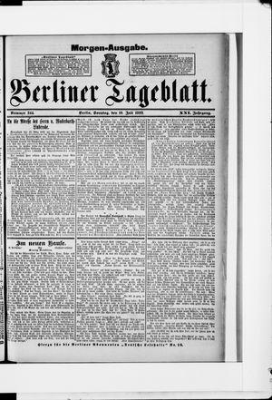 Berliner Tageblatt und Handels-Zeitung vom 10.07.1892