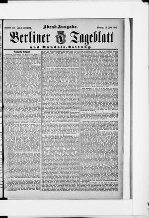 Berliner Tageblatt und Handels-Zeitung vom 11.07.1892