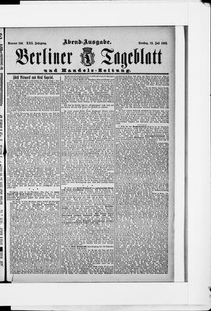 Berliner Tageblatt und Handels-Zeitung vom 12.07.1892