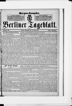 Berliner Tageblatt und Handels-Zeitung vom 13.07.1892